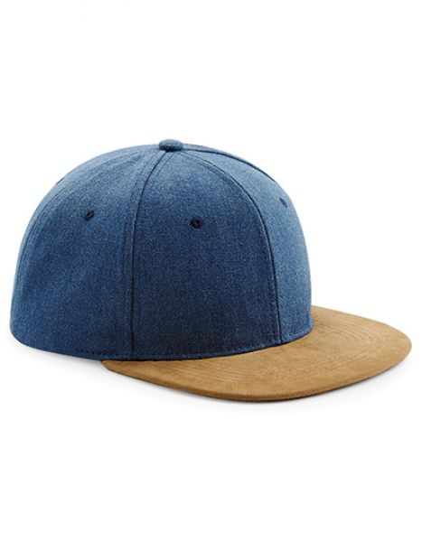 Suede Peak Snapback - Caps - 6-Panel-Caps - Beechfield Denim Blue