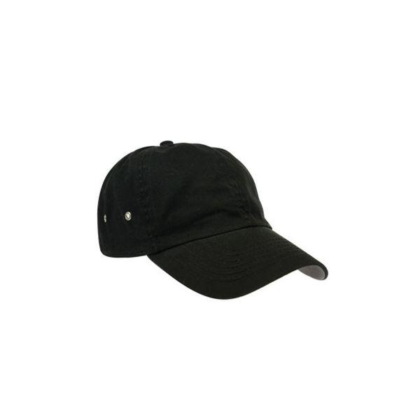 Unisex 6-Panel Cap Schwarz Baseball Cap Mütze
