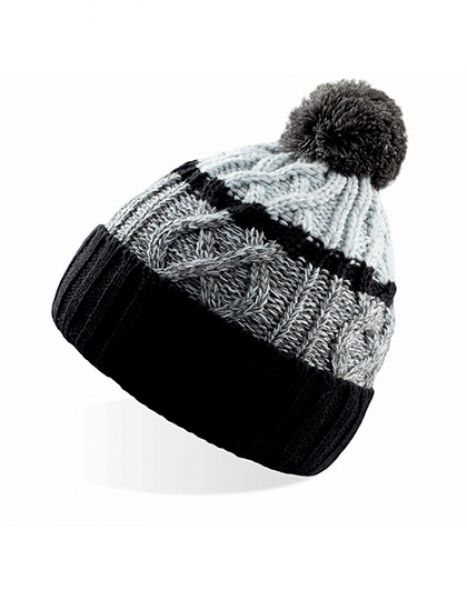 Cool - Knitted Beanie - Winteraccessoires & Mützen - Mützen - Atlantis Black - Grey