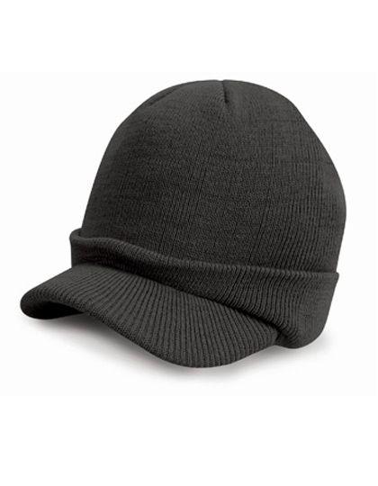 Esco Army Knitted Hat - Winteraccessoires & Mützen - Mützen - Result Winter Essentials Charcoal Grey