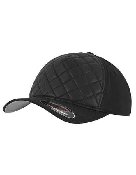 Diamond Quilted Flexfit Cap - Caps - 5-Panel-Caps - FLEXFIT Black