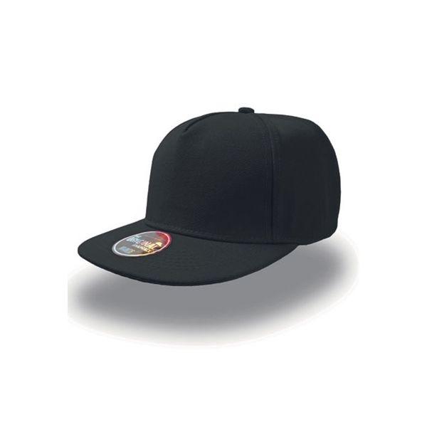 Unisex 5-Panel Cap Schwarz Snapback Cap Mütze