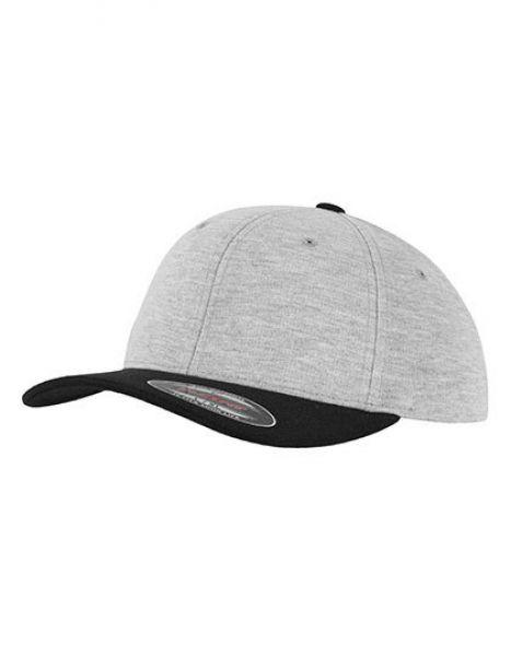 Flexfit Double Jersey 2-Tone Cap - Caps - 6-Panel-Caps - FLEXFIT Grey - Black