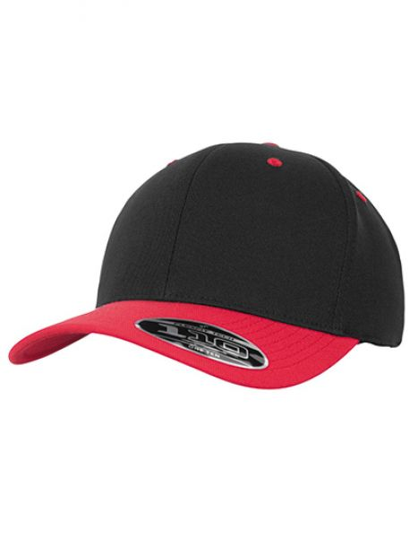 110 Flexfit Pro-Formance 2-Tone Cap - FLEXFIT Black - Red