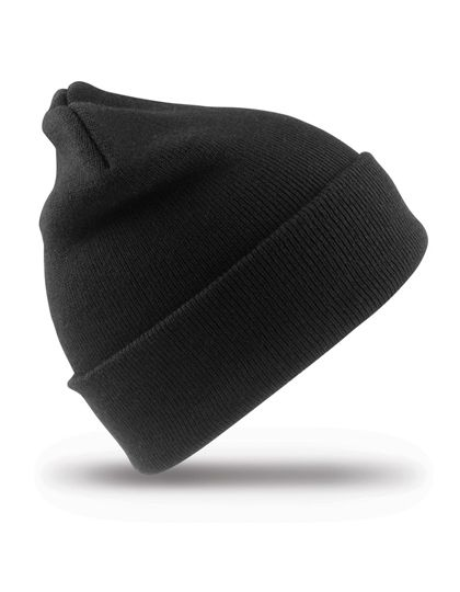 Junior Woolly Ski Hat - Kinderbekleidung - Kinder Caps & Mützen - Result Winter Essentials Black