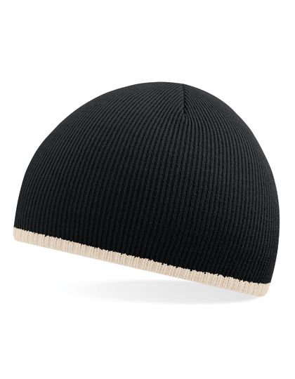 Two-Tone Pull-On Beanie - Winteraccessoires & Mützen - Mützen - Beechfield Black - Stone