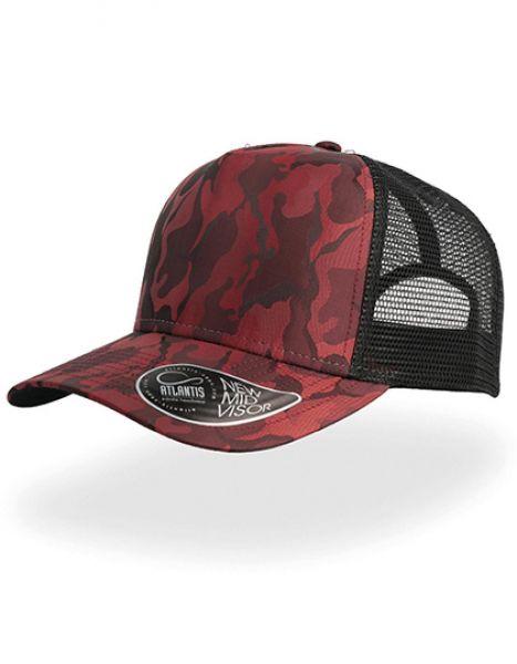Rapper Camou Cap - Caps - Netz- & Sport-Caps - Atlantis Burgundy - Black