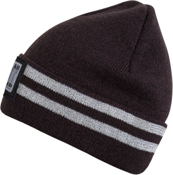CHILLOUTS Lukas Kid Hat Kinder Beanie Mütze in Bordeaux Melange Wintermütze