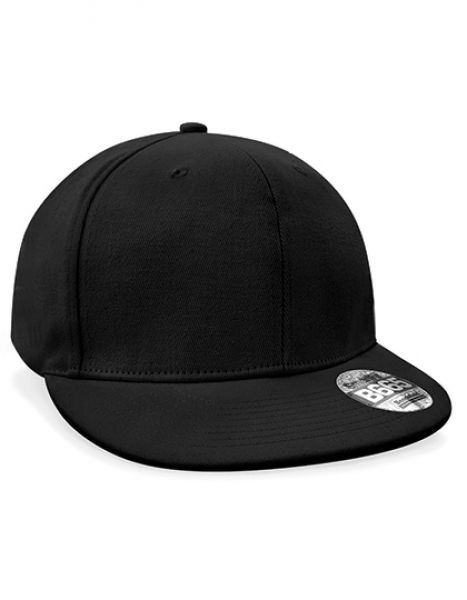Pro-Stretch Flat Peak Cap - Caps - 6-Panel-Caps - Beechfield Black