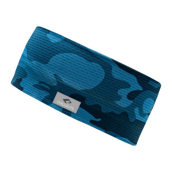CHILLOUTS Stirnband Faro navy blau | Damen & Herren Haarband Camouflage