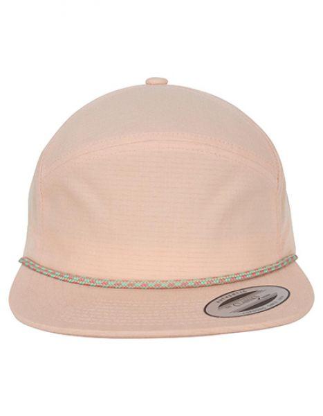 Color Braid Jockey Cap - FLEXFIT Peach