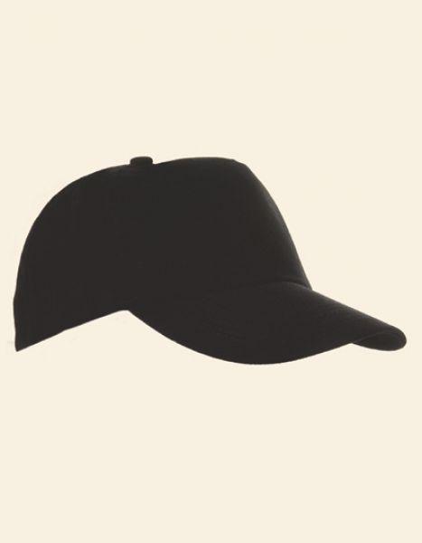 5-Panel Baumwollcap brushed - Caps - 5-Panel-Caps - Printwear Black