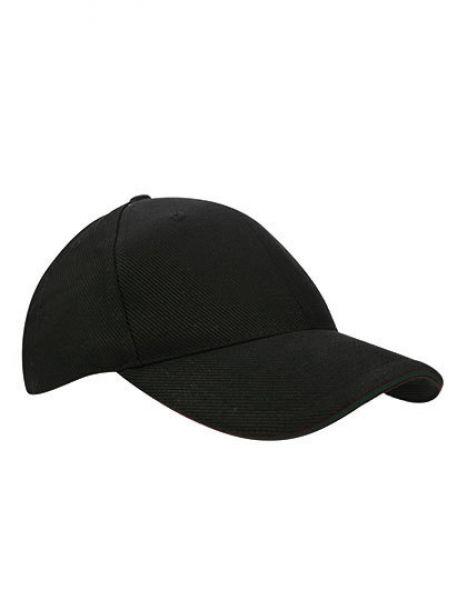 Canvas Structure Cap - Caps - 6-Panel-Caps - Printwear Black - Black