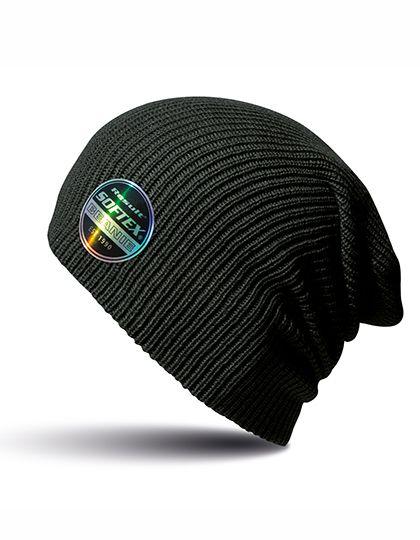 Beanie Core Softex® Mütze Schwarz Strickmütze Dopellagig für Damen & Herren