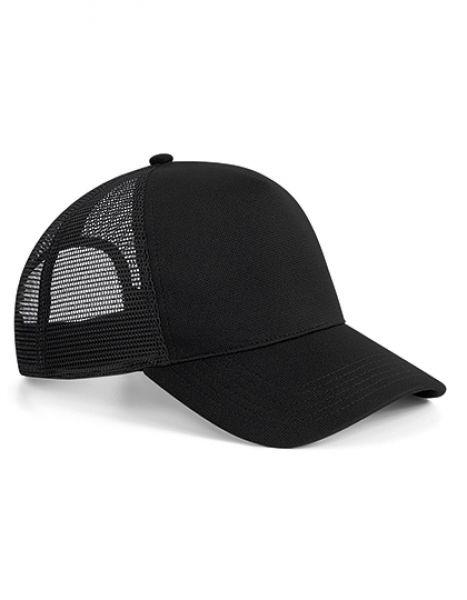 Microknit Snapback Trucker - Beechfield Black