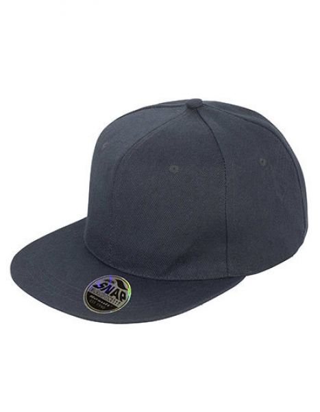 Bronx Original Flat Peak Snapback Cap - Caps - 6-Panel-Caps - Result Headwear Black