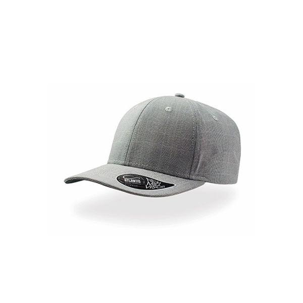 Unisex 6-Panel Cap Grau Baseball Snapback Cap Mütze