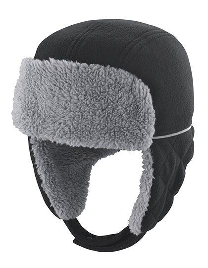Junior Ocean Trapper Hat - Kinderbekleidung - Kinder Caps & Mützen - Result Winter Essentials Black - Grey