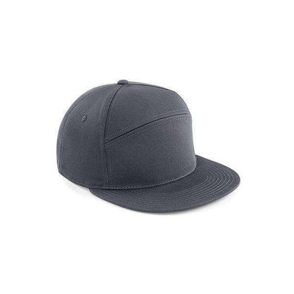 Unisex 5-Panel Cap Grau Snapback Cap Mütze