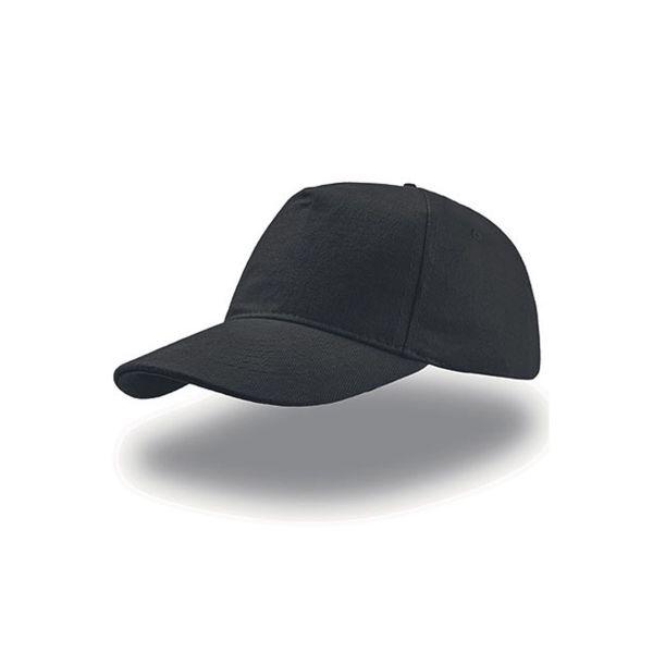Unisex 5-Panel Cap Schwarz Baseball Cap Mütze