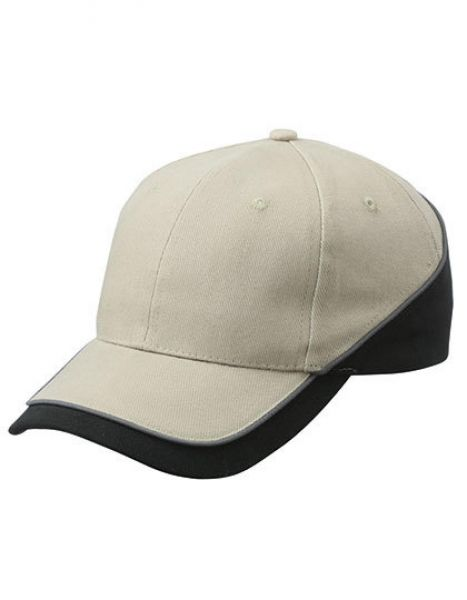 6 Panel Turbo Piping Cap - Caps - 6-Panel-Caps - Myrtle beach Beige - Black - Dark Grey