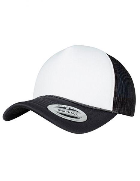 Foam Trucker Cap Curved Visor - FLEXFIT Black - White - Black