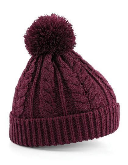 Cable Knit Snowstar® Beanie - Winteraccessoires & Mützen - Mützen - Beechfield Burgundy
