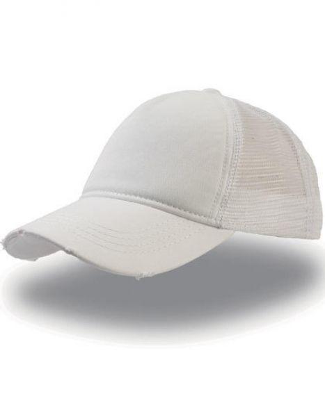 Rapper Destroyed Cap - Caps - Netz- & Sport-Caps - Atlantis White - White