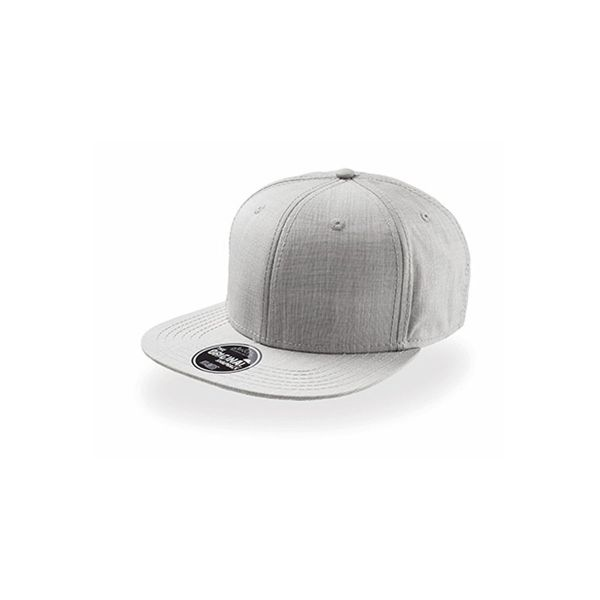 Unisex 6-Panel Cap Grau Snapback Cap Mütze