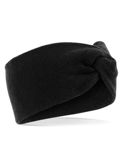 Twist Knit Headband - Beechfield Black