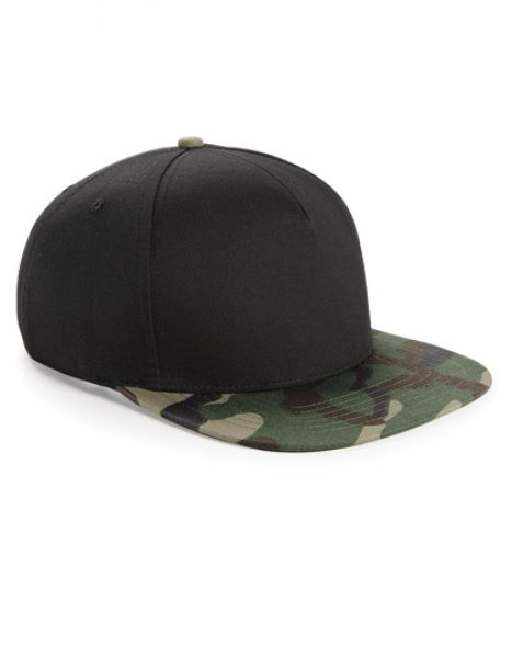 Camo Snapback - Caps - 5-Panel-Caps - Beechfield Black - Jungle Camo