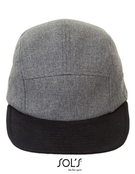 Ramsey Cap - Caps - 5-Panel-Caps - SOL´S Charcoal Melange - Black