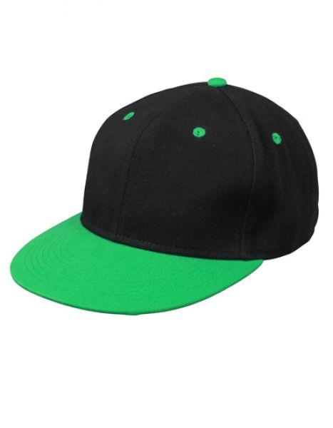 6 Panel Pro Cap - Caps - 6-Panel-Caps - Myrtle beach Black - Fern Green