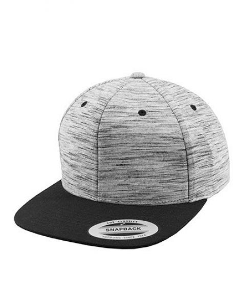 Stripes Melange Crown Snapback - Caps - 6-Panel-Caps - FLEXFIT Grey (Stripes Melange) - Black