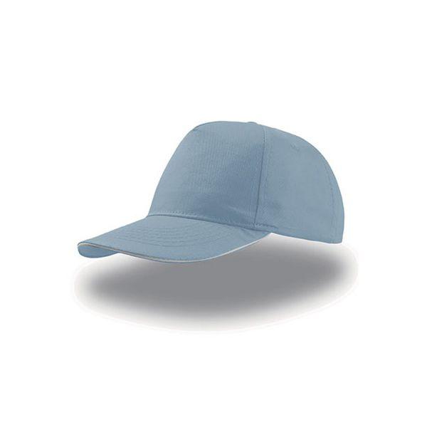 Unisex 5-Panel Cap Hellblau Weiss Baseball Cap Mütze