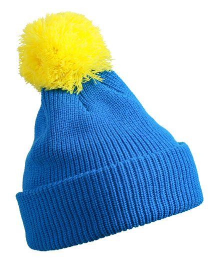 Pompon Hat with Brim - Winteraccessoires & Mützen - Mützen - Myrtle beach Azur - Yellow