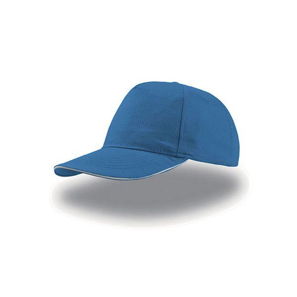 Unisex 5-Panel Cap Blau Weiss Baseball Cap Mütze