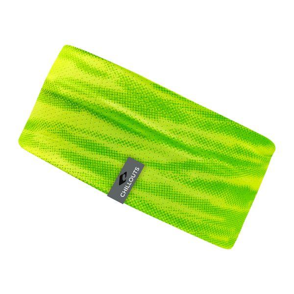 CHILLOUTS Stirnband Minto neon grün | Damen & Herren Haarband Camouflage