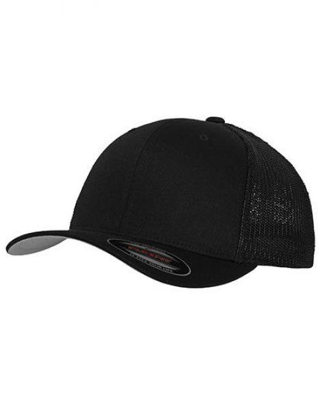 Flexfit Mesh Trucker Cap - Caps - 6-Panel-Caps - FLEXFIT Black