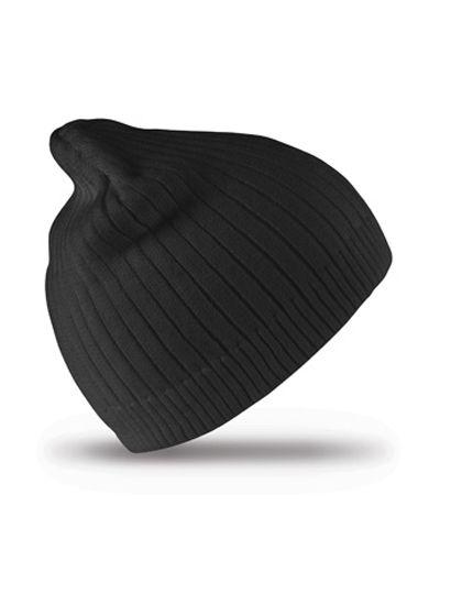 Delux Double Knit Cotton Beanie Hat - Winteraccessoires & Mützen - Mützen - Result Winter Essentials Black