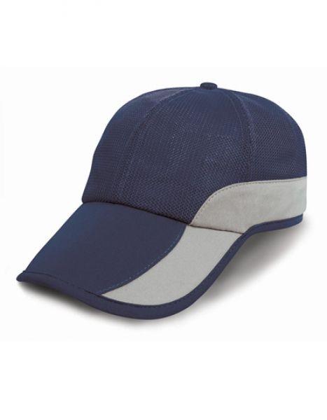 Addi Mesh Cap Under-Peak Pocket - Caps - 6-Panel-Caps - Result Headwear Navy - Silver