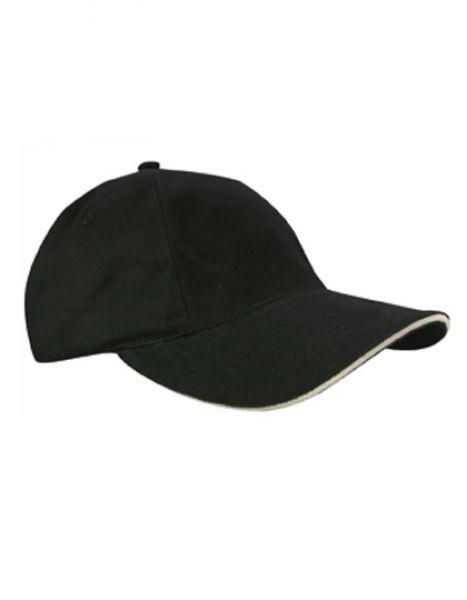 Brushed Promo Cap - Caps - 5-Panel-Caps - Printwear Black - Natural