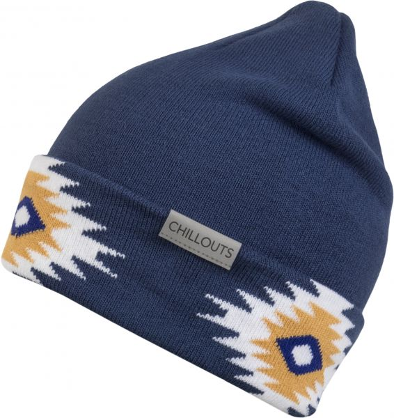 CHILLOUTS Ebbie Hat Damen und Herren Beanie Mütze in Blau Wintermütze