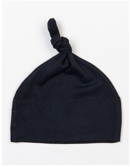 Baby One Knot Hat - Kinderbekleidung - Baby Lätzchen & Mützen - Babybugz Black