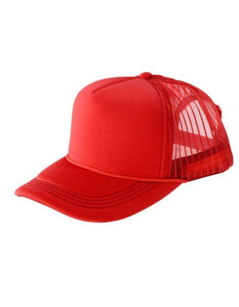 Super Padded Mesh Baseball Cap - Caps - 3-Panel-Caps - Result Headwear Red - Black