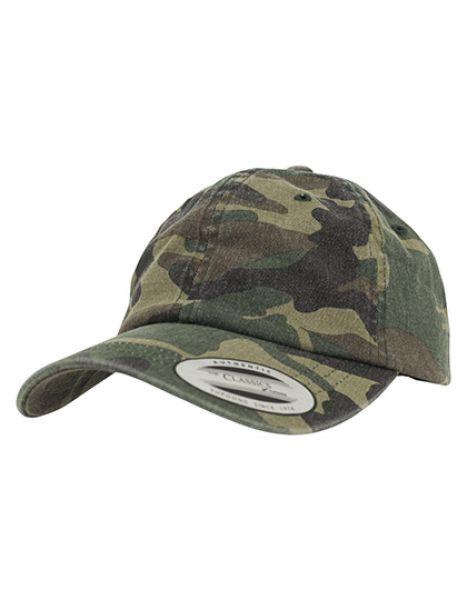 Low Profile Camo Washed Cap - Caps - 6-Panel-Caps - FLEXFIT Wood Camo