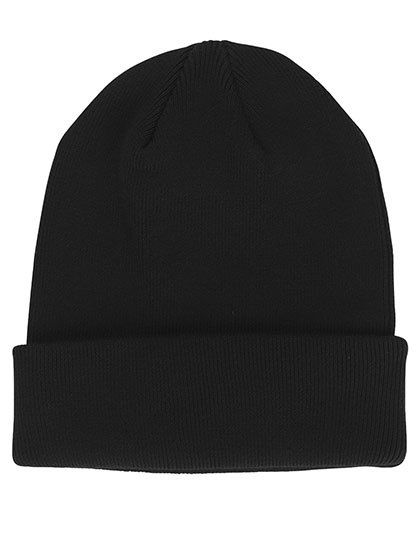 Mixed Knit Beanie - Neutral Black
