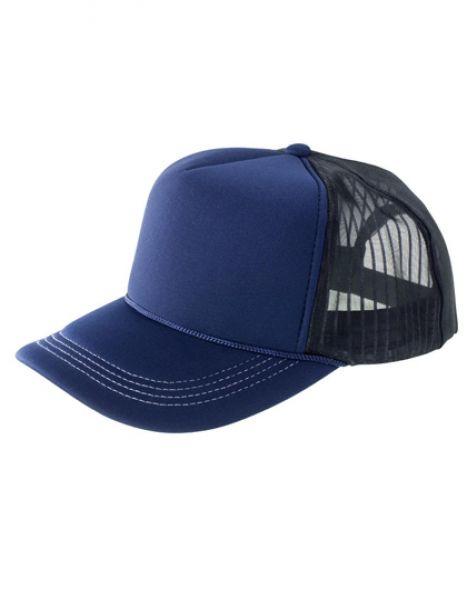 Super Padded Mesh Baseball Cap - Caps - 3-Panel-Caps - Result Headwear Navy - White - Black