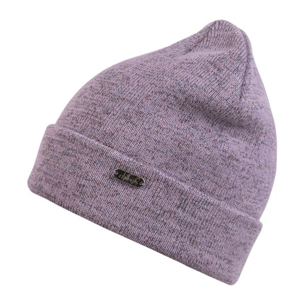 CHILLOUTS Morgan Hat Damen Beanie Mütze in Lila Glitter Wintermütze