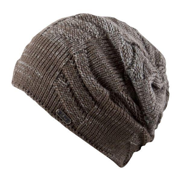 CHILLOUTS Jordon Hat in Walnuss Grau | Herren Wintermütze Strickmütze